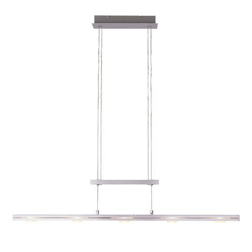 LED-HÄNGELEUCHTE - Alufarben, Design, Metall (100/160cm) - Novel