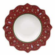 GLOBOKI KROŽNIK TOY'S DELIGHT - rdeča/bela, Moderno, keramika (26cm) - Villeroy & Boch
