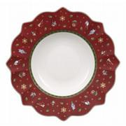 GLOBOKI KROŽNIK TOY'S DELIGHT - rdeča/zelena, Moderno, keramika (26cm) - Villeroy & Boch