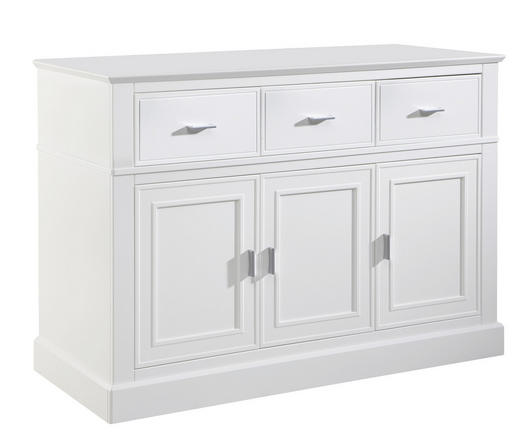 WICKELKOMMODE Isolde Weiß - Alufarben/Weiß, Holzwerkstoff/Metall (131,5/92/56cm) - JIMMYLEE