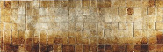 Strukturen OBJEKTBILD - Silberfarben/Goldfarben, Design, Holz (56/180cm) - Monee