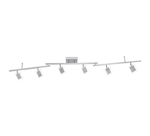 LED-STRAHLER - Nickelfarben, Design, Metall (186,0/117,5/22,0cm)