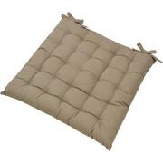 SITZKISSEN - Taupe, Basics, Textil (40/40cm) - BOXXX