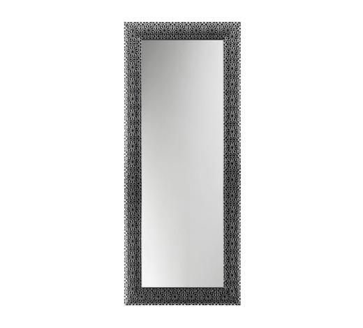 WANDSPIEGEL 78/188/2,5 cm - Silberfarben/Schwarz, Design, Glas/Holz (78/188/2,5cm)