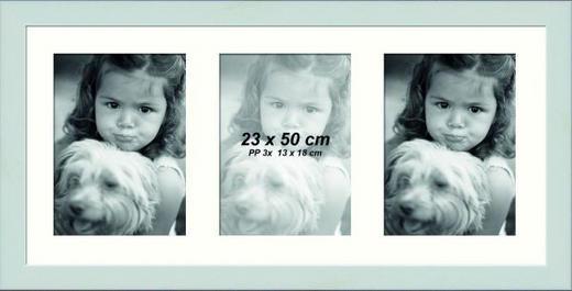 COLLAGEN-BILDERRAHMEN in Weiß - Weiß, Basics, Glas/Holz (23/50cm)