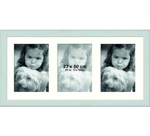 RÁM NA OBRAZOVÉ KOLÁŽE - bílá, Lifestyle, dřevo/sklo (23/50cm)