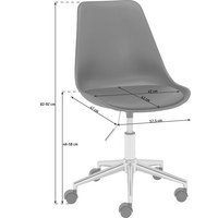 SNURRSTOL UNGDOM - kromfärg/svart, Basics, metall/textil (57,5/82-92/47cm) - Carryhome
