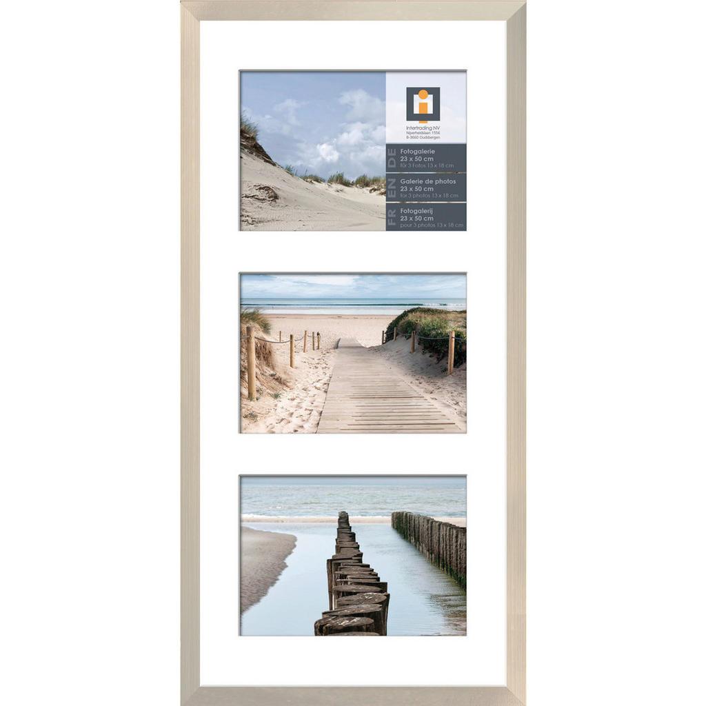 Image of XXXLutz Collagen-bilderrahmen in silberfarben , 623250 , Kunststoff , 23 cm , klar , Passepartout , 0043420493