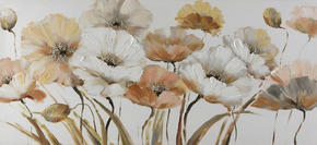 OLJEMÅLNING - vit/brun, Klassisk, trä/textil (120/55cm) - Monee