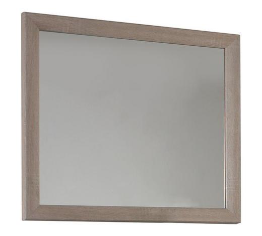 NÁSTĚNNÉ ZRCADLO, 90/80 cm - barvy dubu/Sonoma dub, Konvenční, kompozitní dřevo (90/80cm) - Cantus