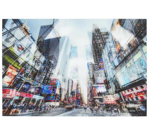 Städte GLASBILD - Multicolor, Design, Glas (120/80cm) - Monee