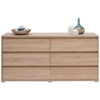 KOMODA - hrast Sonoma/boje aluminija, Design, drvni materijal/plastika (160/79/48cm) - Carryhome