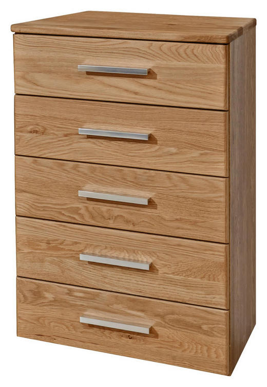KOMMODE Erle teilmassiv Erlefarben - Erlefarben/Alufarben, Design, Holz/Metall (60/86/36cm) - Dieter Knoll