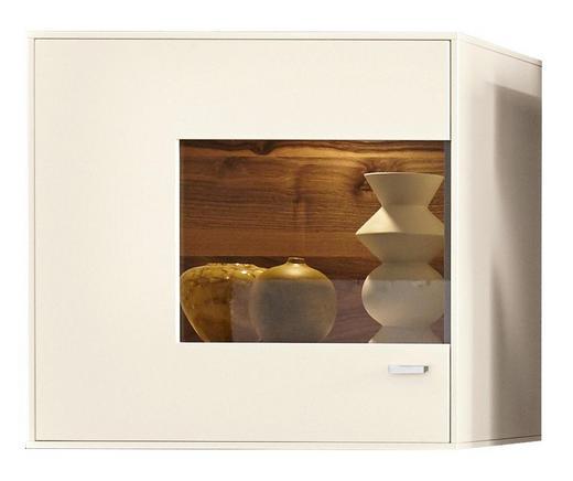 HÄNGEVITRINE Weiß - Chromfarben/Weiß, Design, Glas/Holzwerkstoff (75,8/73/41,2cm) - Moderano