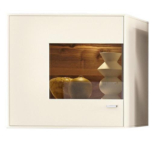HÄNGEVITRINE  in Weiß - Chromfarben/Weiß, Design, Glas/Holzwerkstoff (76/73/41cm) - Moderano