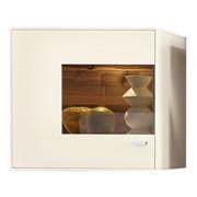 ZÁVĚSNÁ VITRÍNA, bílá - bílá/barvy chromu, Design, kov/kompozitní dřevo (76/73/41cm) - Moderano