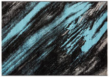Webteppich Blau - Blau/Beige, Basics, Textil (160/230cm) - Ombra