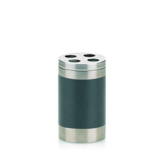ZAHNBÜRSTENHALTER - Anthrazit/Silberfarben, Basics, Metall (6,5/10,5cm)