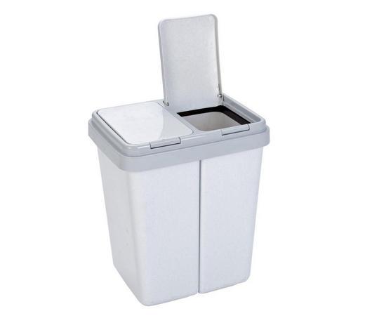 ABFALLEIMER 2x30 L  - Grau, Basics, Kunststoff (43/51/33cm)