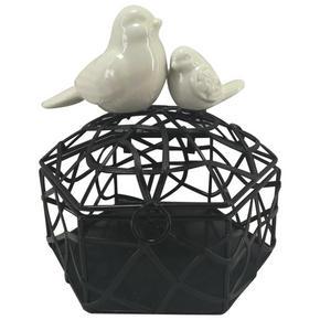 DEKORATIONSLÅDA - vit/svart, Lifestyle, metall/keramik (12,7/12,4/11,4cm)
