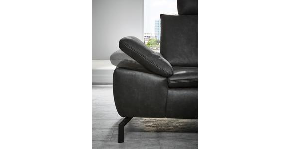 WOHNLANDSCHAFT in Textil Dunkelbraun  - Dunkelbraun/Schwarz, Design, Textil/Metall (181/341cm) - Dieter Knoll
