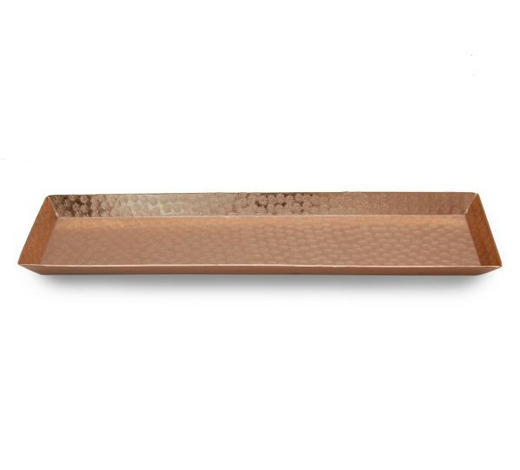 DEKOSCHALE - Kupferfarben, Basics, Metall (16/56cm) - Ambia Home