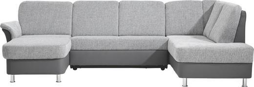 WOHNLANDSCHAFT Flachgewebe - Chromfarben/Grau, KONVENTIONELL, Kunststoff/Textil (164/301/200cm) - XORA