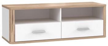 TV-ELEMENT 120,2/41,5/41,3 cm  - Eichefarben/Alufarben, KONVENTIONELL, Holzwerkstoff/Metall (120,2/41,5/41,3cm) - Xora