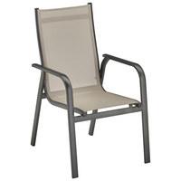 STAPELSESSEL - Anthrazit/Grau, Design, Textil/Metall (59/98/69,5cm) - Kettler HKS