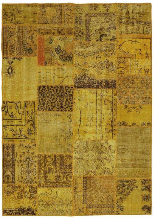 TEPPICH  90/160 cm  Currygelb, Gelb - Currygelb/Gelb, Basics, Textil (90/160cm)