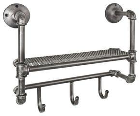 VÄGGHÄNGARE - antracit, Basics, metall (53/44/16cm)