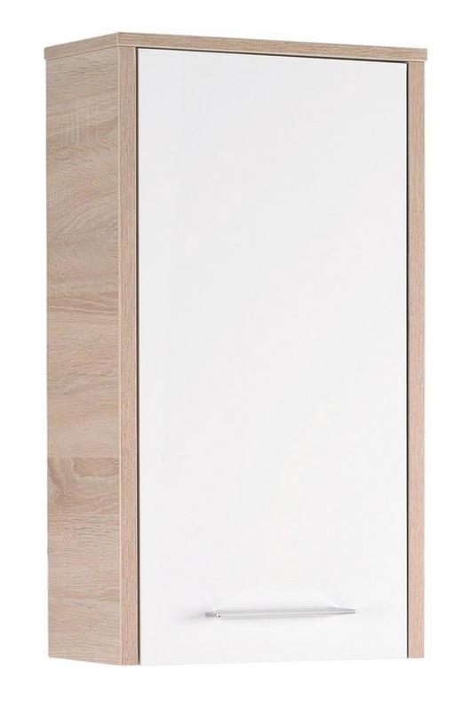 VÄGGHÄNGT SKÅP - vit/kromfärg, Design, trä (40/72/20cm) - Xora