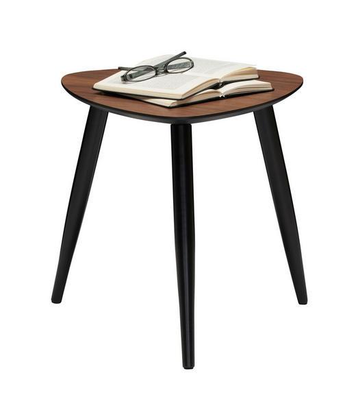BEISTELLTISCH Kiefer, Walnuss furniert Schwarz, Walnussfarben - Walnussfarben/Schwarz, Design, Holz (40/40/40cm) - Xora
