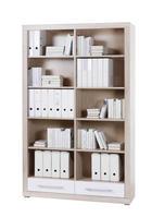 REGAL ZA DOKUMENTE - bijela/hrast Sonoma, Design, drvni materijal/plastika (124/198/36cm) - XORA