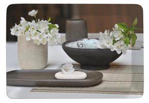 SERVERINGSBRICKA - beige/svart, Klassisk, plast (23/31cm) - Homeware