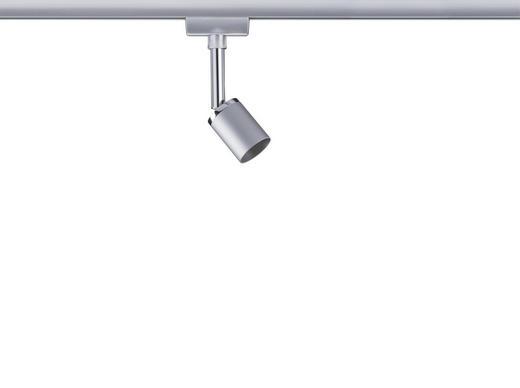 URAIL SCHIENENSYSTEM-STRAHLER - Chromfarben, Design, Metall (5,8/11/6,6cm) - Paulmann