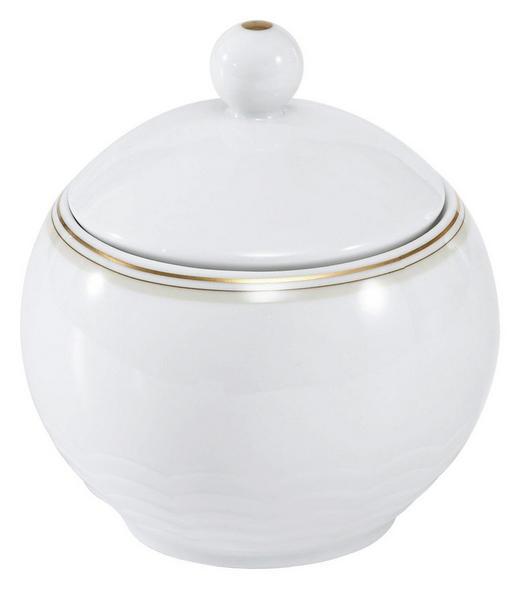 ZUCKERDOSE Keramik - Goldfarben/Weiß, Basics, Keramik (0,28l) - Seltmann Weiden
