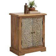 KOMMODE - Multicolor/Schwarz, Trend, Holz/Holzwerkstoff (66/76/35cm) - Ambia Home