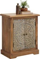 KOMODA - černá/Multicolor, Trend, kov/dřevo (66/76/35cm) - Ambia Home