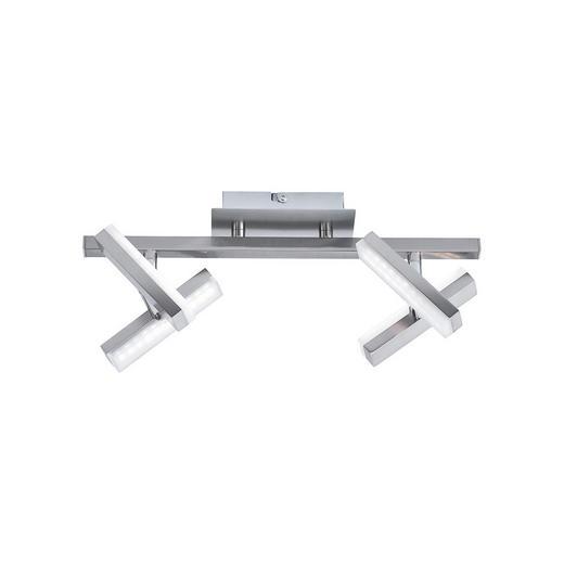LED-DECKENLEUCHTE - Nickelfarben, Design, Metall (36/12/17cm) - Boxxx