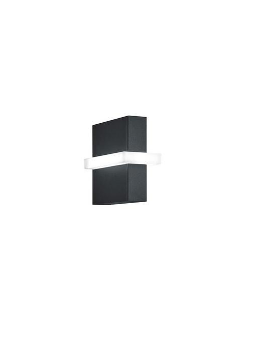 AUßENWANDLEUCHTE Graphitfarben - Graphitfarben, MODERN, Metall (16/8/17cm) - Helestra