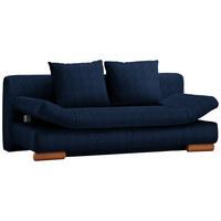 SCHLAFSOFA in Textil Blau - Blau, Design, Holz/Textil (200/87/93cm) - Venda