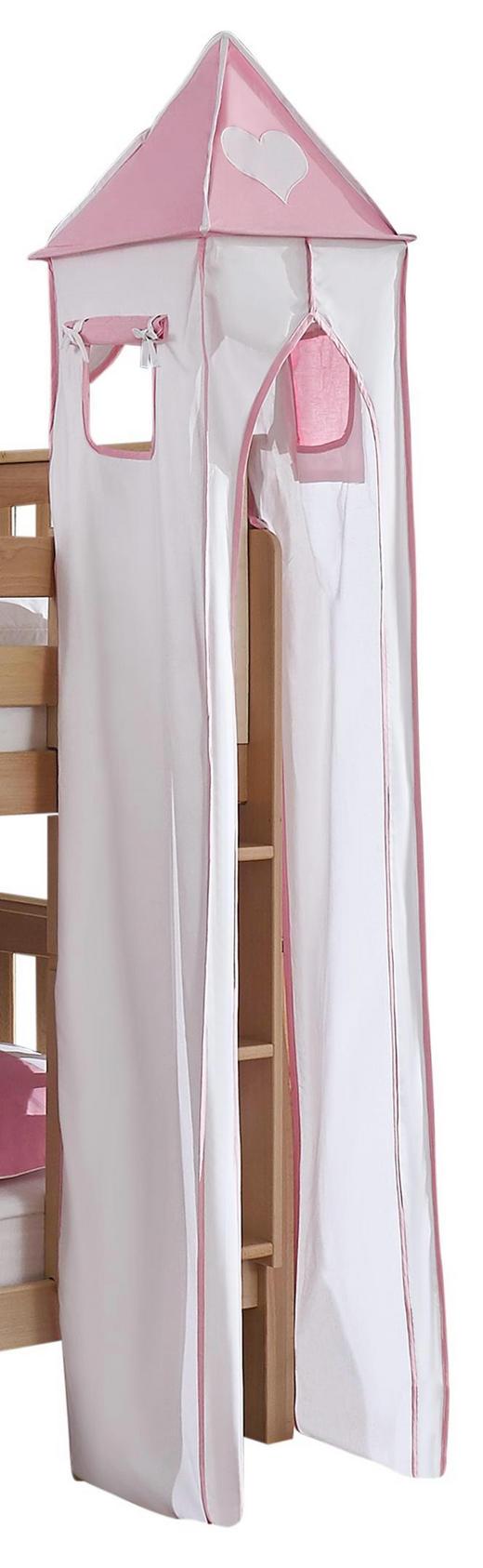 TURMSET Rosa, Weiß - Rosa/Weiß, Design, Textil (40/235/40cm)