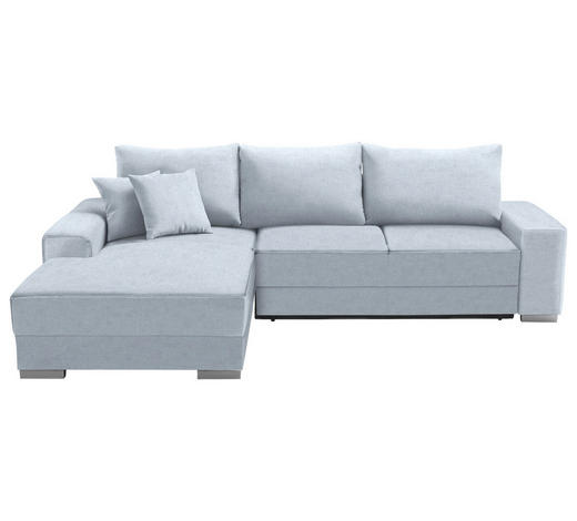 WOHNLANDSCHAFT in Textil Hellblau  - Silberfarben/Hellblau, Design, Kunststoff/Textil (196/276cm) - Cantus