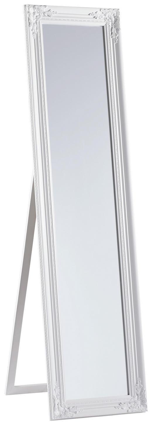 STANDSPIEGEL Eukalyptusholz - Weiß, LIFESTYLE, Glas/Holz (44/168/5cm) - Carryhome