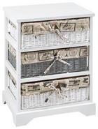 KOMODA - bílá/šedá, Lifestyle, dřevo/textil (43/54,5/33cm) - LANDSCAPE