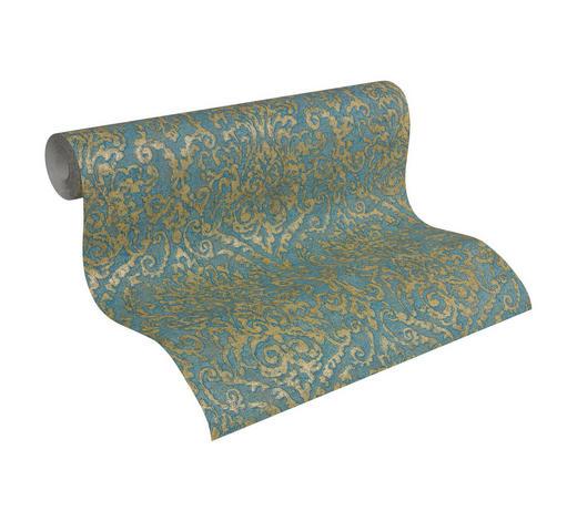 VLIESTAPETE 10,05 m - Türkis/Blau, LIFESTYLE, Textil (53/1005cm)