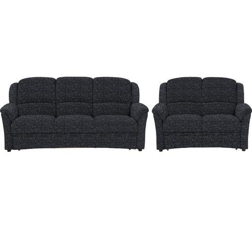SITZGARNITUR in Textil Anthrazit - Anthrazit/Schwarz, KONVENTIONELL, Kunststoff/Textil (204/98/89cm) - Beldomo Comfort