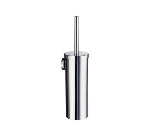 WC-BÜRSTENGARNITUR in Metall - Chromfarben, Basics, Kunststoff/Metall (11,9/39cm)