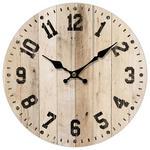WANDUHR 33,8 cm   - Schwarz/Naturfarben, Basics, Holz/Papier (33,8cm) - Ambia Home